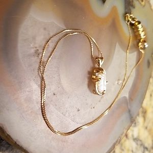 Vintage Jewelry - 14k gold pearl necklace GUC